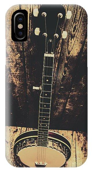 Strum iPhone Case - Old Folk Music Banjo by Jorgo Photography - Wall Art Gallery