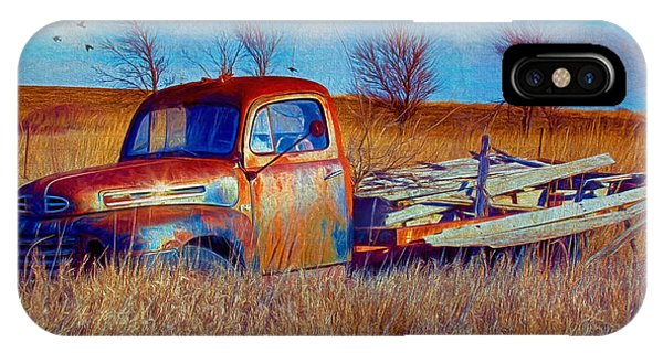 Old Ford F5 Truck Abandoned In Field IPhone Case