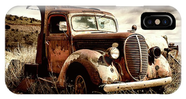 Old Ford Truck In Desert IPhone Case