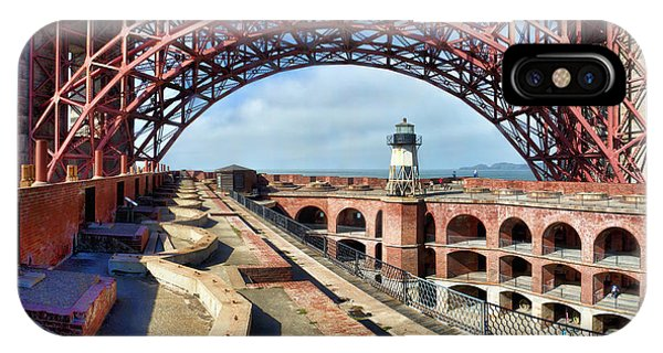 Old Fort Point Lighthouse Under The Golden Gate IPhone Case