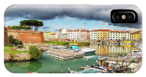 IPhone Case featuring the photograph Old Fortress , Fortezza Nuova Of Livorno by Ariadna De Raadt