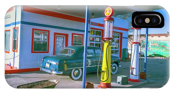 Gas Station iPhone Case - Old Gas Station Arizona  by Garry Gay