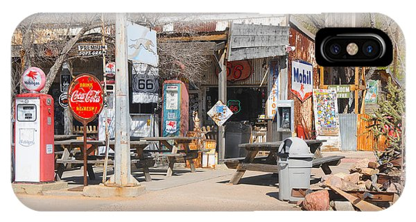 Old Gas Station, Historic Route 66 IPhone Case