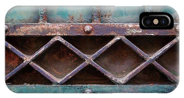 Ironwork iPhone Case - Old Gate Geometric Detail by Elena Elisseeva
