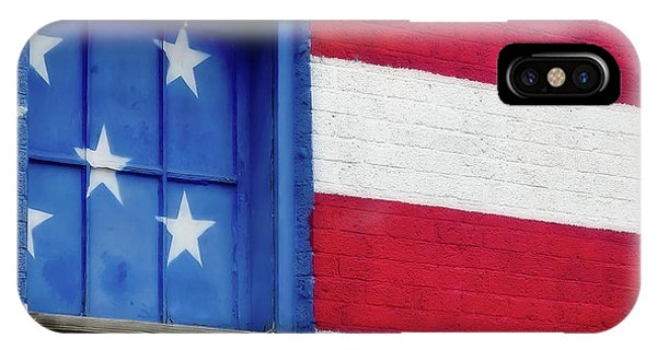 Old Glory, American Flag Mural, Street Art IPhone Case
