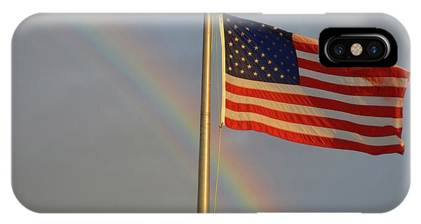 Old Glory And Rainbow IPhone Case