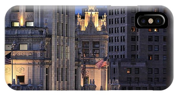 Old Glory Flying High In Chicago IPhone Case
