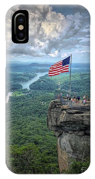 Old Glory On The Rock IPhone Case