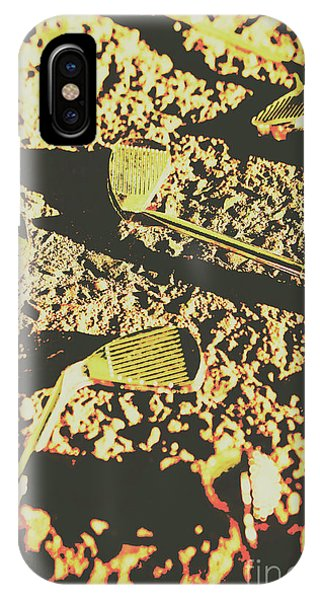 Past iPhone Case - Old Golfing Games by Jorgo Photography - Wall Art Gallery