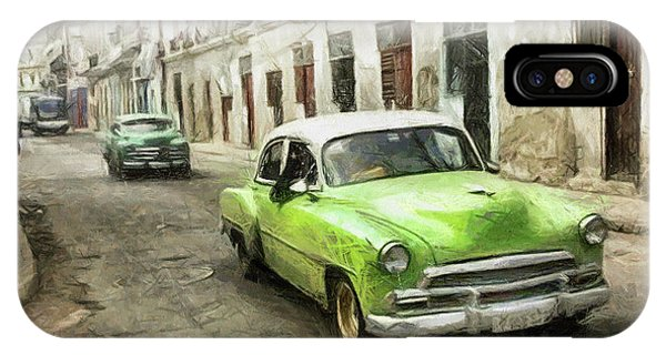 Old Green Car IPhone Case