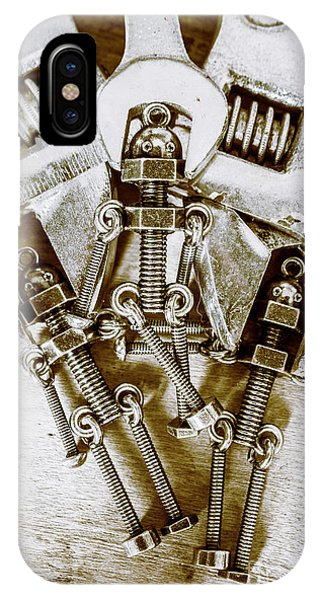 Robot iPhone Case - Old Hardware Upgrade by Jorgo Photography - Wall Art Gallery