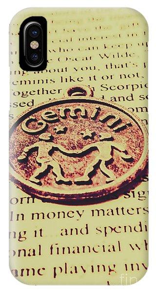 Mythology iPhone Case - Old Horoscope Of Gemini by Jorgo Photography - Wall Art Gallery