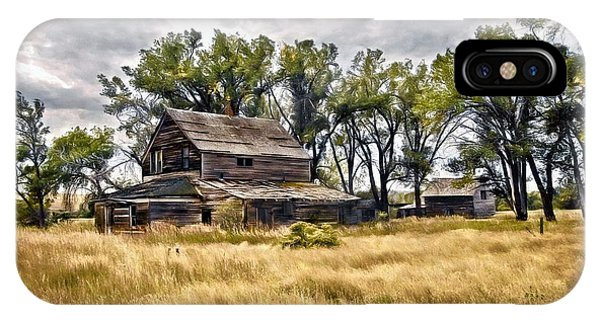 Old House And Barn IPhone Case