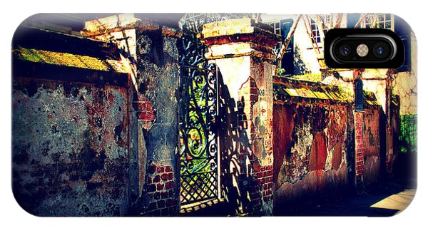 Old Iron Gate In Charleston Sc IPhone Case