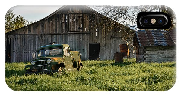 Old Jeep, Old Barn IPhone Case