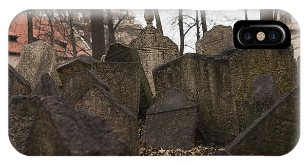 Old Jewish Cemetery In Prague IPhone Case
