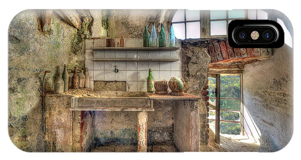 IPhone Case featuring the photograph Old Kitchen - Vecchia Cucina by Enrico Pelos