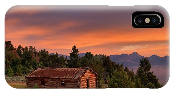 Antiquated iPhone Case - Old Log Cabin by Leland D Howard