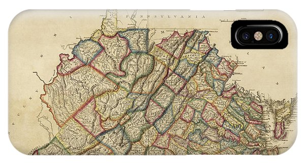 Old Map Of Virginia And West Virginia By Fielding Lucas Circa 1817