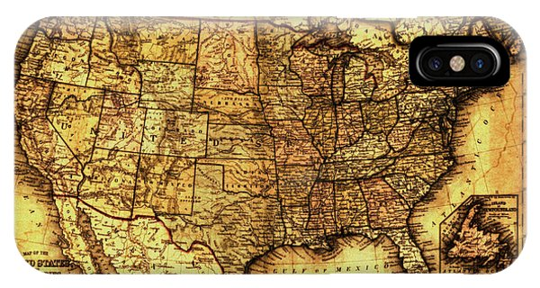 Old Map United States IPhone Case
