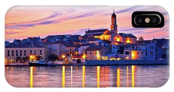 Old Mediterranean Town Of Betina Sunset View IPhone Case