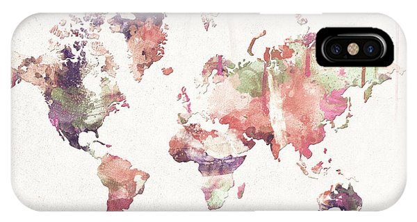New Trend iPhone Case - Old Memories World Map by Zaira Dzhaubaeva