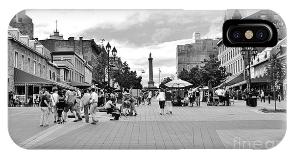 Old Montreal Jacques Cartier Square IPhone Case