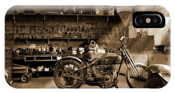 Mike iPhone Case - Old Motorcycle Shop by Mike McGlothlen