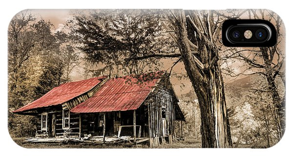 Chilhowee iPhone Case - Old Mountain Cabin by Debra and Dave Vanderlaan