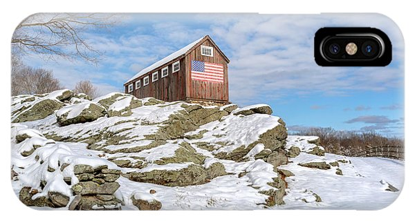 New England Barn iPhone Case - Old New England Barn In Winter by Bill Wakeley
