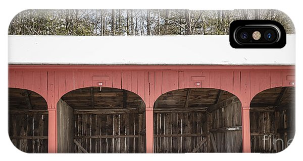 New England Barn iPhone Case - Old New England Carriage Barn by Edward Fielding