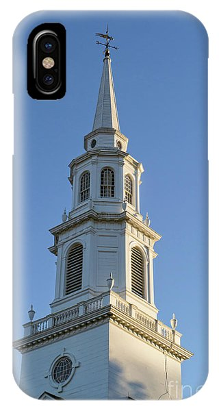 Old New England Church Steeple Concord IPhone Case
