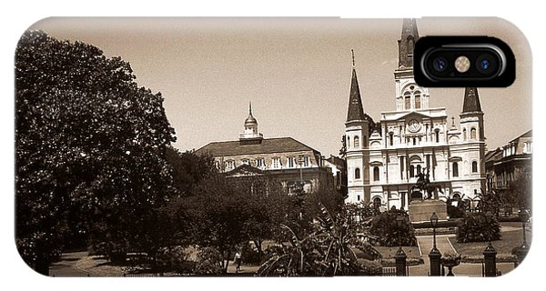 Old New Orleans Photo - Saint Louis Cathedral IPhone Case