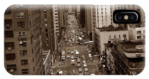 Old New York Photo - 10th Avenue Traffic IPhone Case