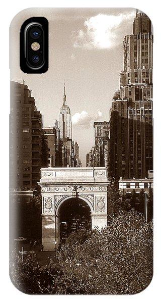 Washington Arch And New York University IPhone Case