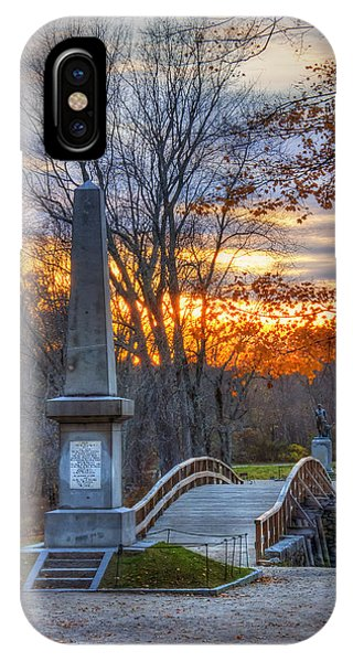 Old North Bridge - Concord Ma IPhone Case