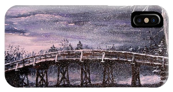 Old North Bridge In Winter IPhone Case