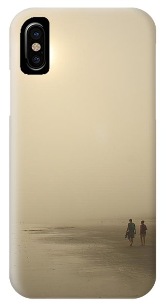 Orchard Beach iPhone Case - Old Orchard Beach Foggy Evening by John Burk