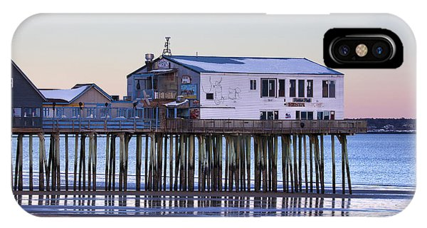 Orchard Beach iPhone Case - Old Orchard Beach Moonrise by Eric Gendron