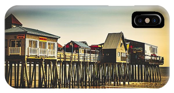 Orchard Beach iPhone Case - Old Orchard Beach Pier by Library Of Congress
