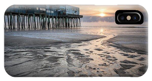 Old Orchard Beach Sea Smoke Sunrise IPhone Case