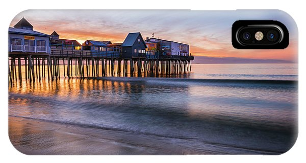 IPhone Case featuring the photograph Old Orchard Beach by Expressive Landscapes Fine Art Photography by Thom