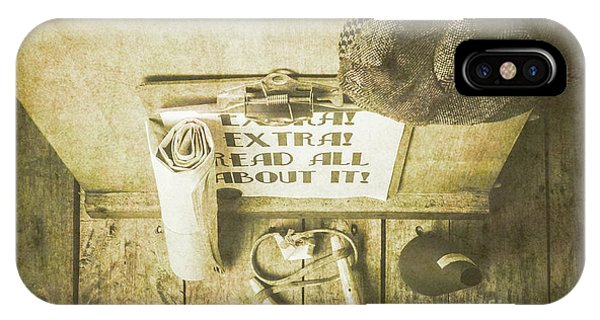 Texture iPhone Case - Old Paper Boy News Stand by Jorgo Photography - Wall Art Gallery