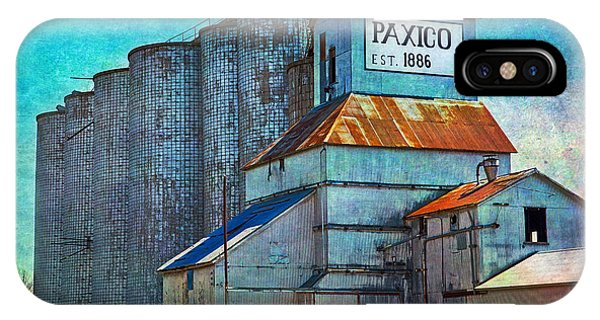 Old Paxico Kansas Grain Elevator IPhone Case