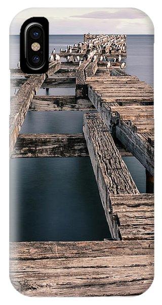Old Pier In Punta Arenas IPhone Case