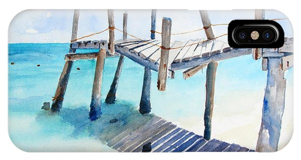 Old Pier On Playa Paraiso IPhone Case