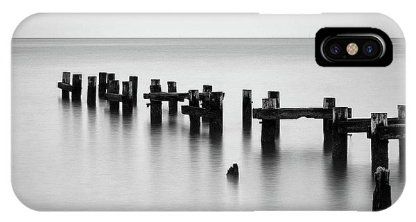 Old Pilings Black And White IPhone Case