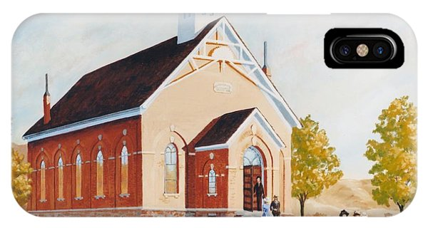 Old Porterville Church Summer Phone Case by JoAnne Corpany