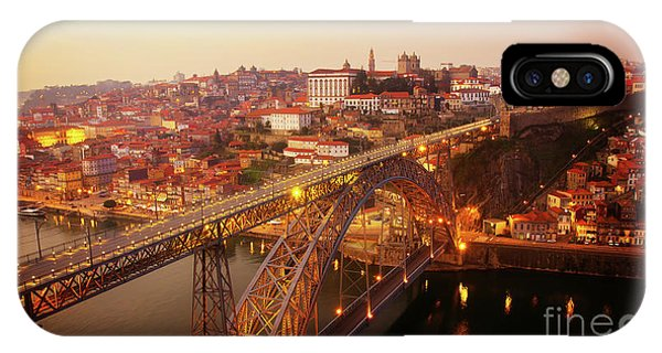 old Porto at  Pink Sunset, Portugal IPhone Case