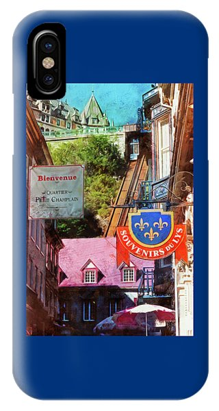 Old Quebec City Funicular IPhone Case